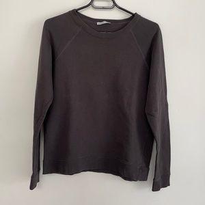 ZARA Washed Charcoal Gray Crewneck Sweater - Size S